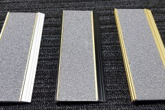 412 stair nosing with Sovereign Gold Insert with Grey Carborundum