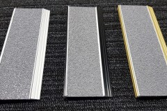 412 stair nosing with clear-silver anodised Insert with Grey Carborundum