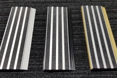 412 stair nosing with epoxy 4 bar clear-silver insert