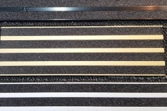 Epoxy anodised balck, anodised sovereign gold, and anodised clear